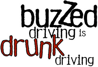 Image with the text, &#34buzzed driving is drunk driving.&#34