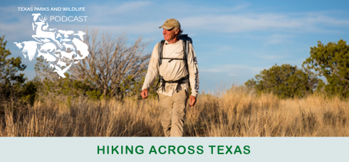 Dave Roberts Hiking Across Texas