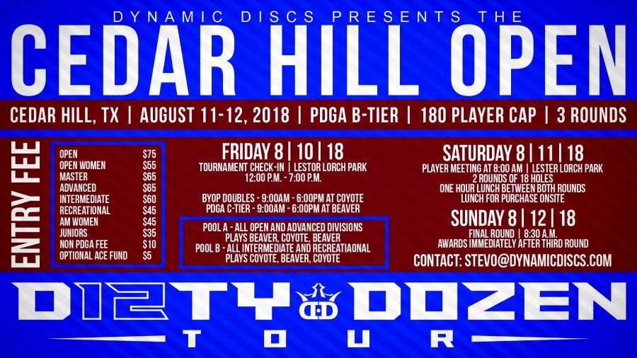 Cedar Hill Open Disc Golf Tournament 2018
