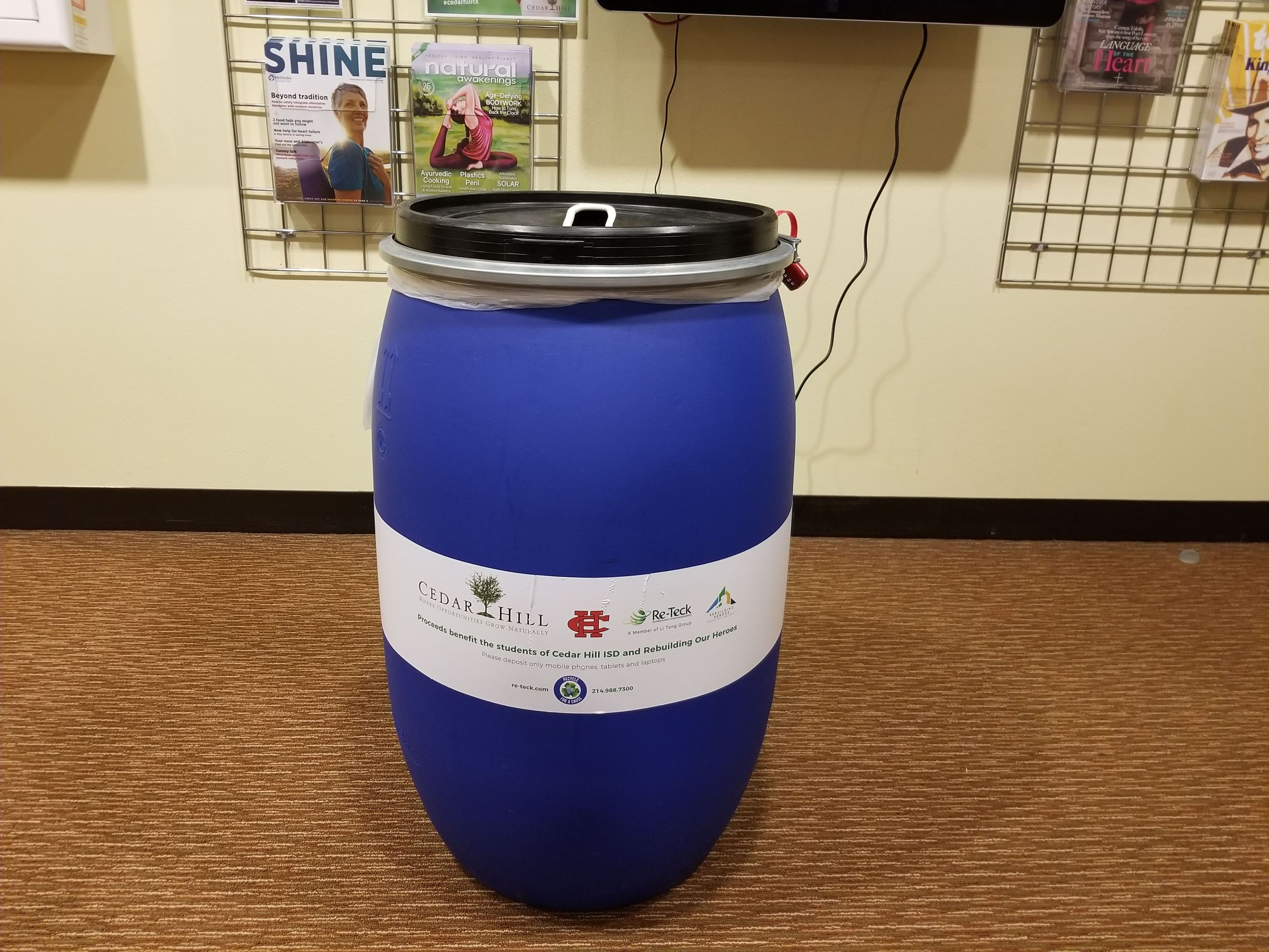 Recycling for a Cause bin
